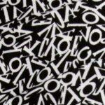 letters black